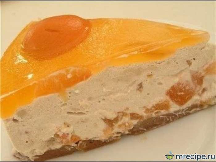 """Торт """"Абрикосовый"""" (без выпечки)"""