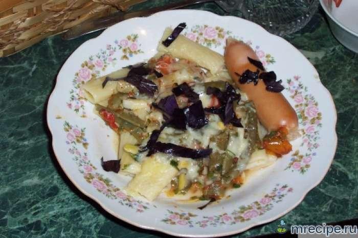 Соус из стручковой и спаржевой фасоли к макаронам