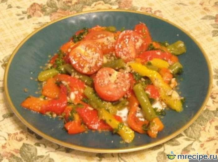 Салат из печеных перцев
